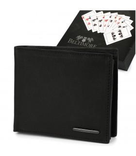 Męski portfel skórzany czarny klasyczny RFiD Beltimore P93