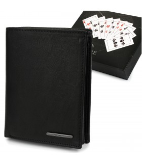 Męski portfel skórzany czarny klasyczny RFiD Beltimore P94