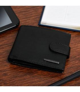 Męski portfel skórzany czarny klasyczny RFiD Beltimore P95