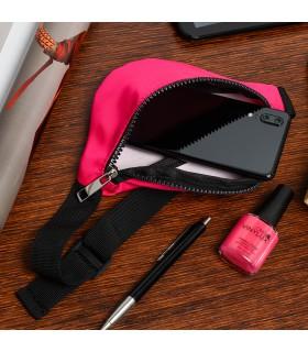 Różowa nerka biodrówka saszetka mała nereczka neon Z30