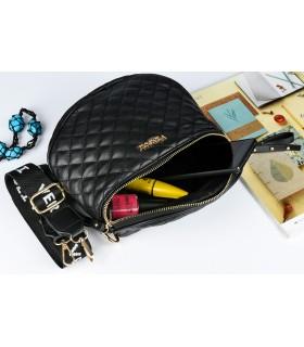 Czarno-złota Saszetka nerka przez ramię torba pikowana modna C20