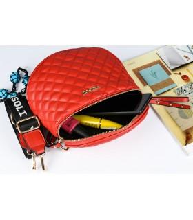 Czerwona Saszetka nerka przez ramię torba pikowana modna C20