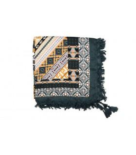 Duża ludowa chusta z frędzlami MODNA Folk wzory Apaszka Q70