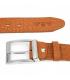 Camelowy Beltimore skórzany pasek do spodni klasyczny licowy W87