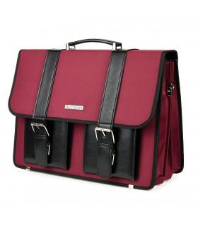 Beltimore luksusowa męska aktówka teczka torba duża na laptopa bordowa I36