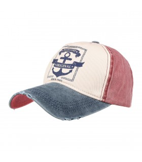 Granatowa czapka z daszkiem baseballówka vintage uniwersalna cz-m-1