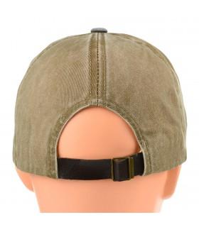 Czarna czapka z daszkiem baseballówka vintage uniwersalna cz-m-1