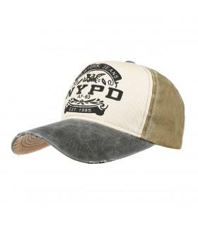 Czarna czapka z daszkiem baseballówka vintage uniwersalna cz-m-2