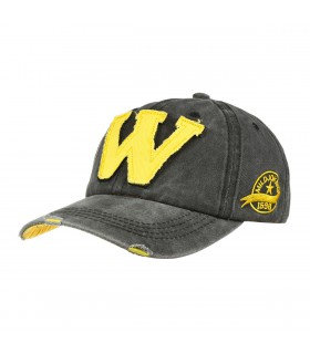 Szara czapka z daszkiem baseballówka vintage uniwersalna cz-m-4