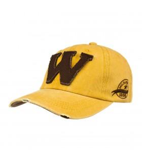 Żółta czapka z daszkiem baseballówka vintage uniwersalna cz-m-4