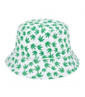 Biały kapelusz dwustronny bucket hat wędkarski modny kap-m4