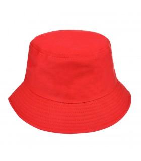 Czerwony kapelusz bucket hat wędkarski modny jednolity kap-m2