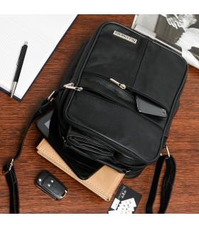 Męska torba skórzana raportówka poręczna czarna Beltimore G68
