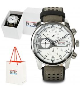 Zegarek męski pasek szary Pacific zestaw Z61