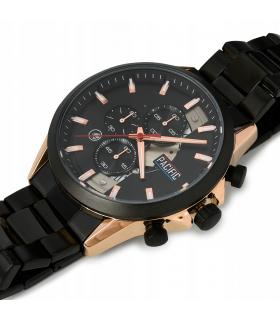 Zegarek męski bransoleta czarna Pacific zestaw Z62