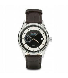 Zestaw zegarek męski brązowy rzemyk Pacific Z58