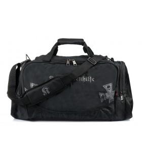 Duża torba podróżna sportowa czarna solidna MODNA Z70