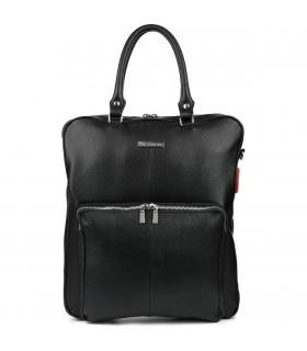 Czarny duży plecak na laptopa skóra naturalna pasek Beltimore N24