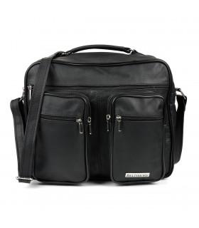 Czarna męska duża torba dwukomorowa BELTIMORE H84