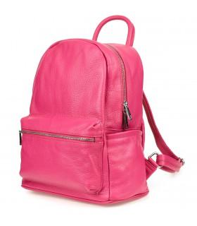 Różowy Włoski Plecak Skórzany A4 damski miękka SKÓRA duży P16
