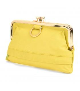 Żółta duża portmonetka damska skórzana pojemna bigiel B48