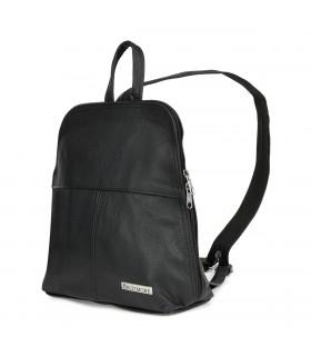 Plecak skórzany czarna torebka elegancka poręczna Beltimore 021