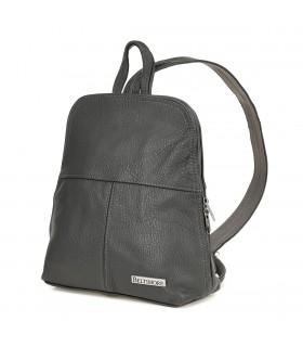 Plecak skórzany szara torebka elegancka poręczna Beltimore 021
