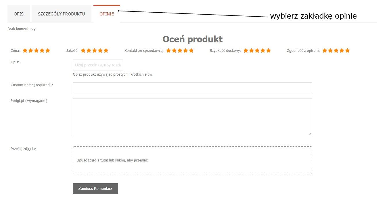 opinia o produkcie sklepu na krateczka.pl